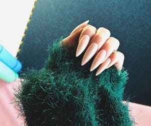 finger, green, and long image