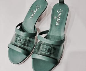 chanel, shoes, and green image
