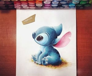 drawing, stitch, and cute image