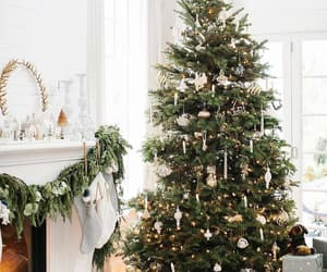 christmas tree, gifts, and cosy image