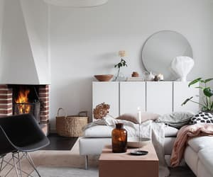 fireplace, living space, and storage image