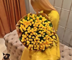 flowers, luxury, and yellow image