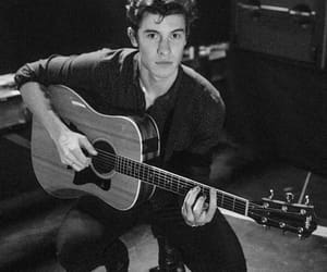guitar, shawn mendes, and black and white image