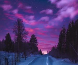 night and winter image