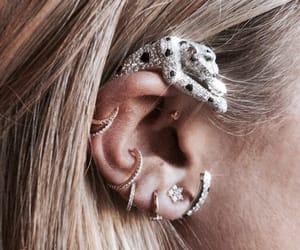 bag, earring, and fashion image