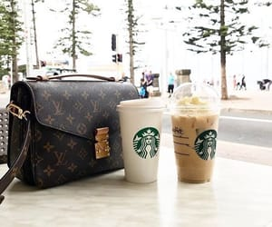 bag, cofee, and fashion image
