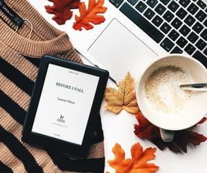 autumn, eBook, and orange image