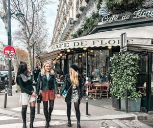 cafe de flore, fashion, and look image