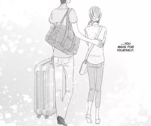 couple, manga, and monochrome image
