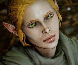 fantasy art, elf, and dragon age image