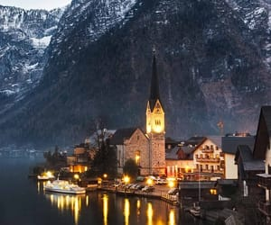 city, mountains, and nature image