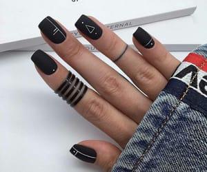 black, black nails, and dark image