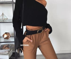 belt, brown, and style image