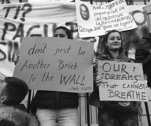 black and white, quotes, and protest image