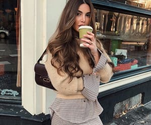 model, coffee, and fashion image