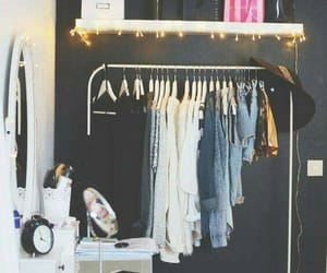 clothes, room, and lights image