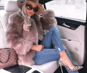 car, girl, and glam image