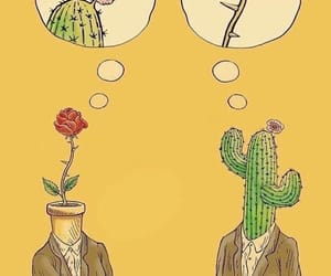 cactus, rose, and love image