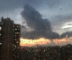night, rain, and sky image