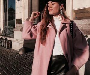fashion, pink, and coat image