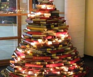 book, christmas, and christmas tree image