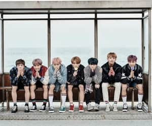 bus stop and bts image