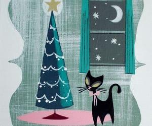arbol, navidad, and cats image