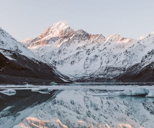 landscape, mountains, and snow image
