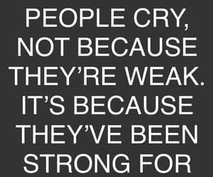 cry, strong, and think image