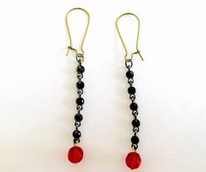 etsy, boho long earrings, and elegant dangle image