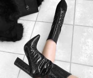 black, boots, and Michael Kors image