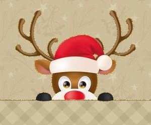background, reindeer, and chistmas image