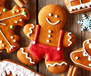 gingerbread, christmas, and cookie image