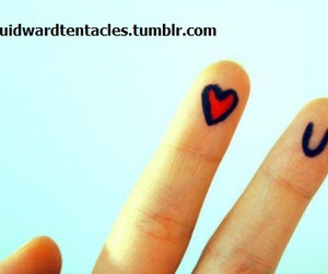 fingers, heart, and I Love You image