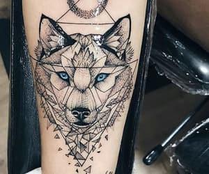 tattoo, tats, and wolf image