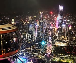 china, city, and lights image