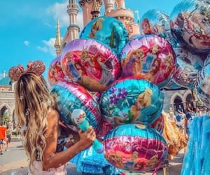 adventure, balloons, and disneyland image