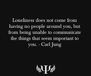 loneliness, quotes, and alone image