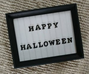 etsy, rustic wood sign, and happy halloween image