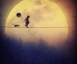 child, night sky, and walk image