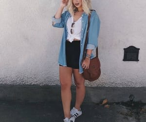 camisa jeans, look, and tumblr image