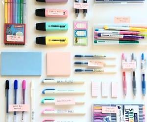 school, pens, and pencils image