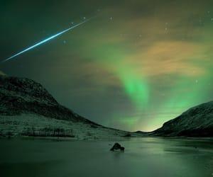 sky, aurora, and stars image