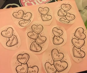bad, candy hearts, and choke image