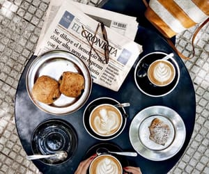 coffee, croissant, and espresso image