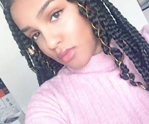 African, braids, and rose image