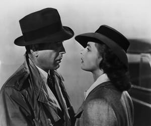 Casablanca, ingrid bergman, and black and white image