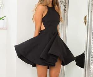backless prom dress and black prom dress image