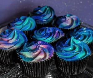 cupcakes, galaxy, and food image