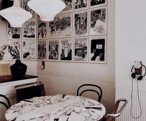 art, cafe, and lighting image